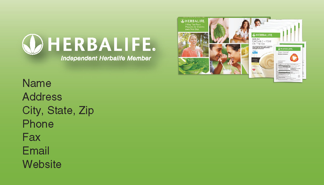 Herbalife nutrition club supplies back of business card colourmoves