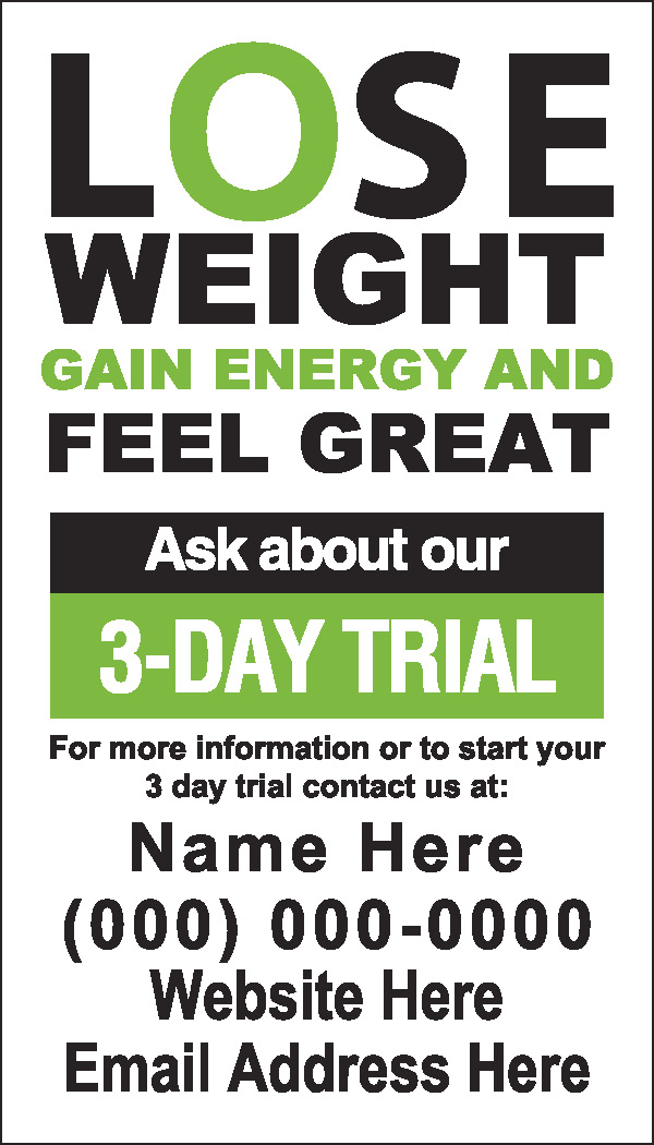 weight loss challenge flyer template - herbalife nutrition club supplies
