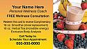 Free Wellness Consultation Business Card
