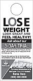 3 DAY Lose weight Look great Door Hanger with shake images Black ink