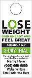 3 Day Trial Lose Weight Feel Great Door Hanger