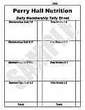 Daily Membership Tally Sheet