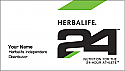Herbalife 2 sided solid Back 24 Business Card